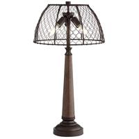 Pacific Coast 58X42 Dunton 27 inch 60 watt Walnut Table Lamp Portable Light