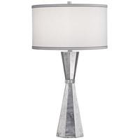 Pacific Coast 60G90 Nelson 32 inch 100 watt Silver Leaf Table Lamp Portable Light