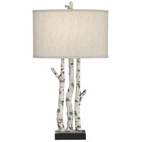 Pacific Coast 62W49 White Forest 23 inch 150 watt Natural Table Lamp Portable Light