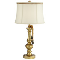 Pacific Coast 63A68 Canterbury 16 inch 150 watt Egyptian Gold Table Lamp Portable Light Kathy Ireland