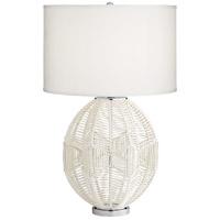 Pacific Coast 63C83 North Shore 29 inch 100 watt White Table Lamp Portable Light