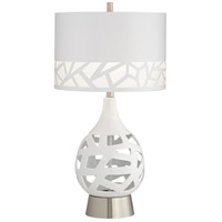 Pacific Coast White Metal Table Lamps