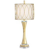 Pacific Coast 63N91 Trevizo 12 inch 100 watt Gold Leaf Table Lamp Portable Light