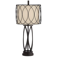 Pacific Coast 63N92 Porto 13 inch 150 watt Dark Bronze Table Lamp Portable Light