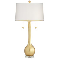 Pacific Coast 63N94 West End 14 inch 75 watt Gold Leaf Table Lamp Portable Light Kathy Ireland
