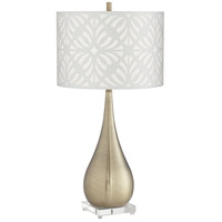 Pacific Coast 63N95 Eleanor 15 inch 150 watt Antique Brass Table Lamp Portable Light