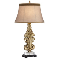 Pacific Coast 63P07 Gold Leaf 22 inch 150 watt Antique Gold Table Lamp Portable Light