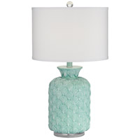 Pacific Coast 63P11 Shaws Cove 19 inch 150 watt Turquoise Table Lamp Portable Light