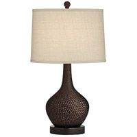 Pacific Coast 63P12 Koko 20 inch 150 watt Brown Table Lamp Portable Light
