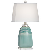 Pacific Coast 63P13 Beaufort 18 inch 150 watt Turquoise Table Lamp Portable Light