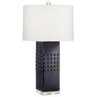 Pacific Coast 63P21 Vassar 20 inch 150 watt Dark Empire Blue Table Lamp Portable Light