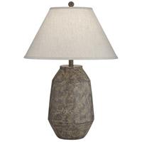 Pacific Coast 64W01 Lagos 19 inch 150 watt Dark Terracotta Table Lamp Portable Light