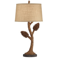 Pacific Coast 65E40 Piney 32 inch 150 watt Brown Table Lamp Portable Light