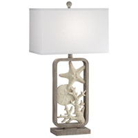 Pacific Coast 65W94 White Sands 25 inch 100 watt Grey Wash Table Lamp Portable Light