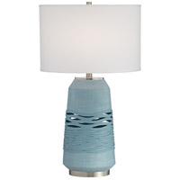 Pacific Coast 65W95 Riverton 24 inch 154 watt Ocean Blue Table Lamp Portable Light