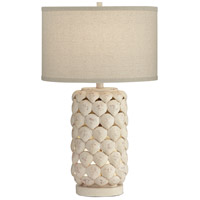 Pacific Coast 65X17 Shell Point 21 inch 102 watt Seashell Beige Table Lamp Portable Light
