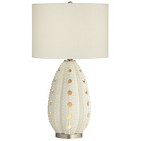 Pacific Coast 66C93 White Sea Urchin 29 inch 150 watt Natural Powdercoat Table Lamp Portable Light with Nightlight