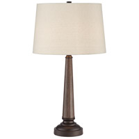 Pacific Coast 66K29 Arden 29 inch 100 watt Walnut Table Lamp Portable Light