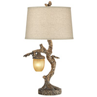 Pacific Coast 67N68 Muir Woods 31 inch 150 watt Natural Powdercoat Table Lamp Portable Light with Nightlight