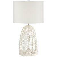 Pacific Coast 70R51 Aria 30 inch 100 watt White Table Lamp Portable Light