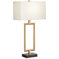 Pacific Coast 70W51 Villa Grove 31 inch 75 watt Warm Antique Brass Table Lamp Portable Light