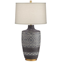 Pacific Coast 73M52 Mesa 32 inch 150.00 watt Black with Decoration Table Lamp Portable Light