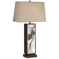 Pacific Coast 73M77 Brookline 32 inch 100.00 watt Dark Bronze Table Lamp Portable Light, with USB Port and Outlet