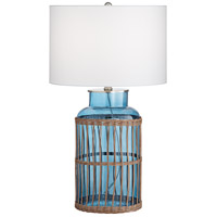 Pacific Coast 74J87 Wailoa Weave 27 inch 150.00 watt Med Blue-Ocean Table Lamp Portable Light KI Essentials