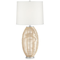 Pacific Coast 74P79 Knoll 33 inch 100.00 watt Natural Powdercoat Table Lamp Portable Light