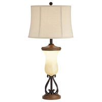 Pacific Coast 76G96 Brighton 36 inch 150.00 watt Black Bronze Table Lamp Portable Light, with Nightlight
