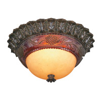 Pacific Coast Pine Cone Glow 2 Light Flush Mount in Etruscan Gold 84-7883-G7