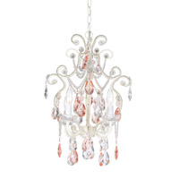 Pacific Coast Chateau Elegance 1 Light Chandelier in Pink 84-9200-54