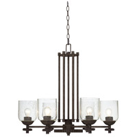 Pacific Coast Livingston 6 Light Chandelier in Poly Dark Rust 84-9648-68