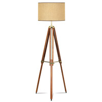Pacific Coast 85-2148-68 Tripod 57 inch 150 watt Walnut Floor Lamp Portable Light