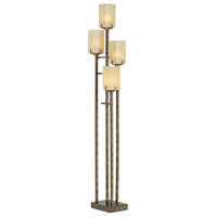 Pacific Coast 85-2247-30 City Heights 66 inch 300 watt Copper Bronze with Gold Floor Lamp Portable Light