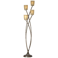 Metro Plaza 69 inch 240 watt Copper Bronze with Gold Floor Lamp Portable Light