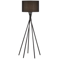 Pacific Coast Stage One 1 Light Floor Lamp in Black 85-3140-07