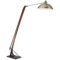 City Nights 88 inch 150 watt Medium Walnut Floor Lamp Portable Light