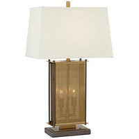 Pacific Coast 9D153 Adonis 28 inch 180 watt Antique Brass Table Lamp Portable Light, with Nightlights