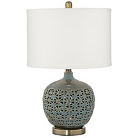 Pacific Coast 9V069 Cactus Cove 24 inch 100 watt Sage-Cactus Green Table Lamp Portable Light with Nightlight