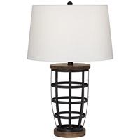 Pacific Coast 9R120 Woodman 25 inch 150 watt Black Table Lamp Portable Light