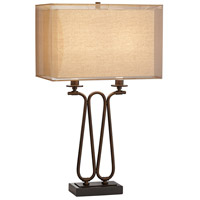 Pacific Coast 24F98 Lancelot 29 inch 75 watt Oiled Bronze Table Lamp Portable Light