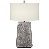 Pacific Coast 31H04 Palo Alto 27 inch 100 watt Aged Pewter Table Lamp Portable Light Kathy Ireland