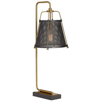 Pacific Coast 31J07 Hudson 31 inch 60 watt Gold Table Lamp Portable Light
