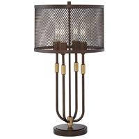 Pacific Coast 31H50 Harvey 27 inch 60 watt Oil Rubbed Bronze Table Lamp Portable Light