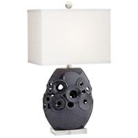 Pacific Coast 33E17 Burton 28 inch 104 watt Dark Blue Table Lamp Portable Light