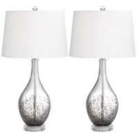 Pacific Coast 32F04 Sparrow 28 inch 150 watt Smoke Grey Table Lamps Portable Light Set of 2