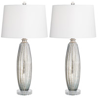 Pacific Coast 32F05 Suri 30 inch 150 watt Champagne Table Lamps Portable Light Set of 2