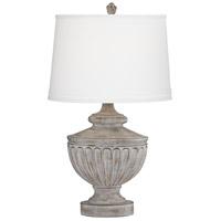 Pacific Coast 18E10 Villa Pompeii 28 inch 150 watt Weathered Grey and Brown Table Lamp Portable Light Kathy Ireland