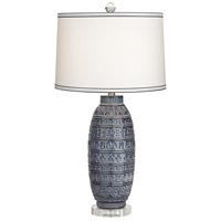 Pacific Coast 34P01 Cullen 31 inch 100 watt Dark Blue Table Lamp Portable Light